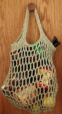 Crochet Grocery Bag : The Adventures of Cassie: Free Reusable Crocheted Grocery Bag Pattern