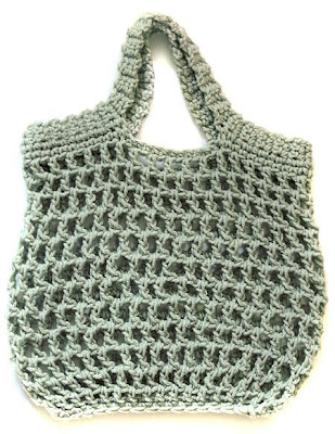 Crochet Grocery Bag Pattern : The Adventures of Cassie: Free Reusable Crocheted Grocery Bag Pattern