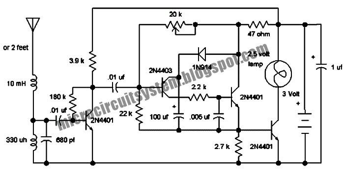 lightning detector circuit using transistor