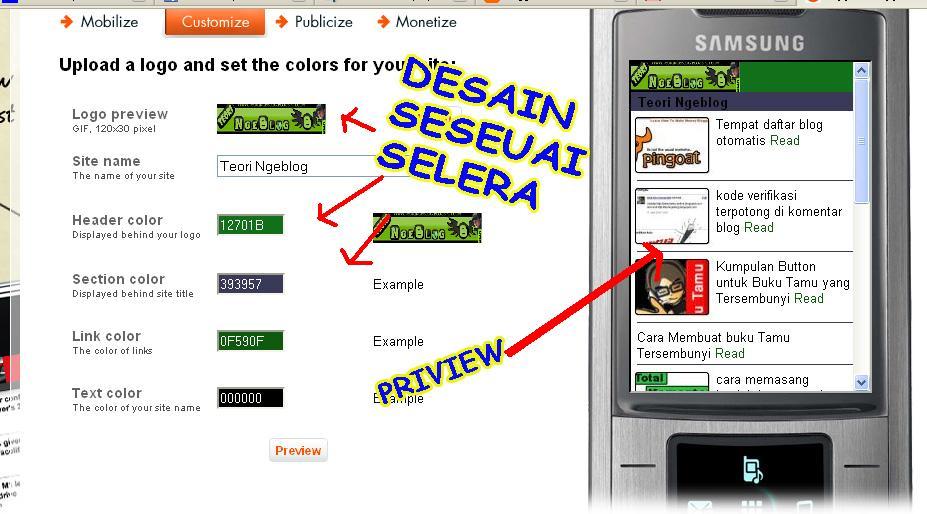 blogger blogspot mobile templates
