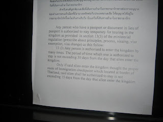 thailand immigration rules