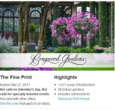 Fun things to do with kids longwood gardens deal from groupon for Longwood gardens discount tickets
