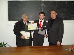 """Dott.Bruno Aloi presidente del """"Comitato Nazionale Colombo, dott. Alban Daci e sindaco Mario Cuneti"""