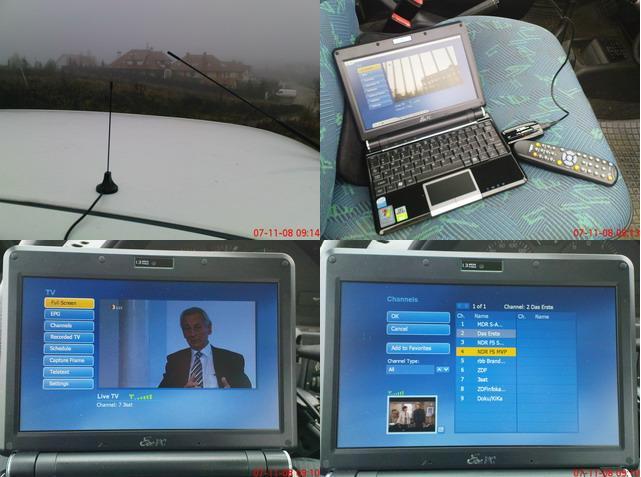 Udane próby odbioru sygnału DVB-T z nadajnika regionalnego Mecklenburg-Vorpommern
