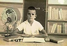 Adalberto Day em 1961 na Escola São José na Rua da Glória.