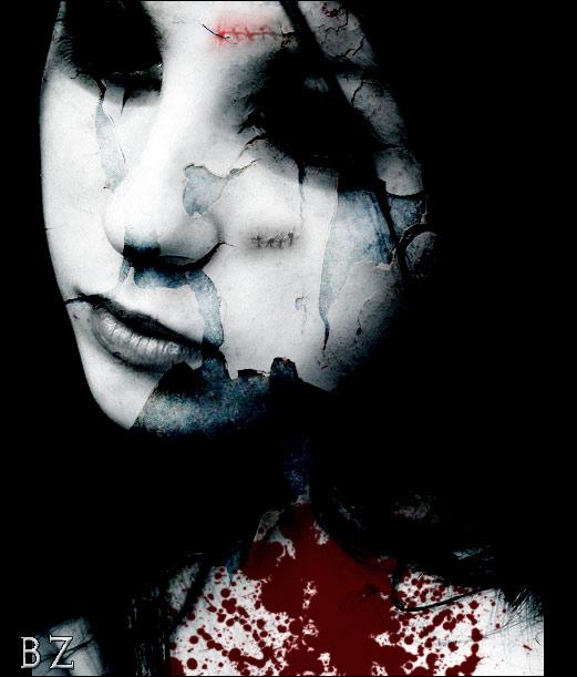 gothic vampire bloody girl - photo #1