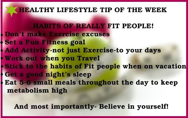 In Love With Food HEALTHY LIFESTYLE TIP OF THE WEEK