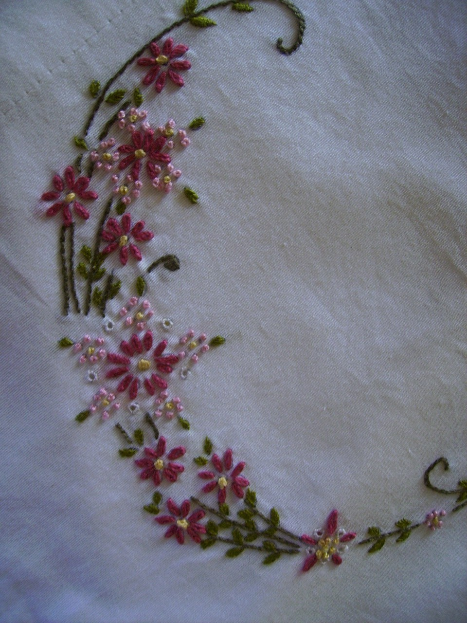 Simple hand embroidery designs for tablecloth - A New Year A New Design And A Few New Stitches