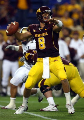 Minnesota Gopher Quarterback Adam Weber