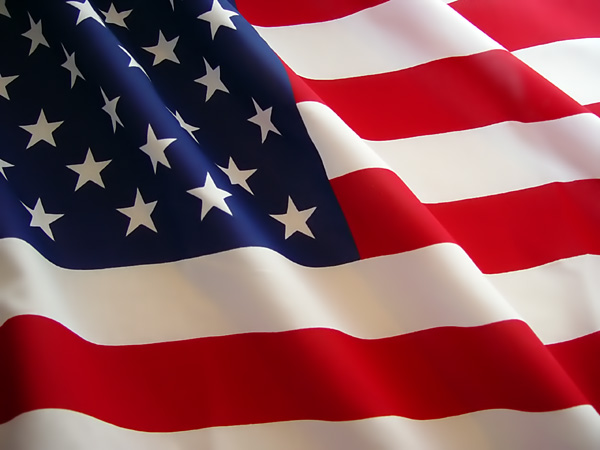 faded american flag background. With