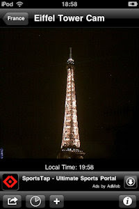 Eiffel Tower by Night Live Cams image
