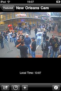 New Orleans Web Cam on Live Cams app