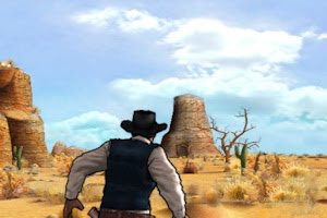 wild west guns has crisp, bright graphics