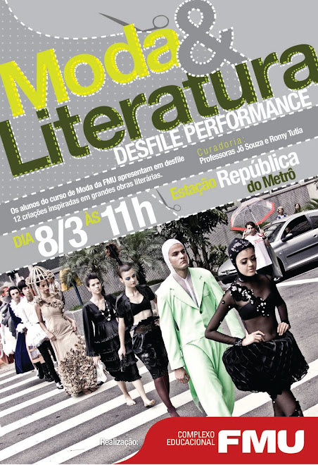 DESFILE MODA E LITERATURA NO METR