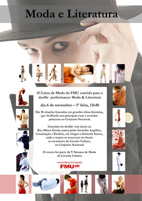 CARTAZ MODA E LITERATURA 2008