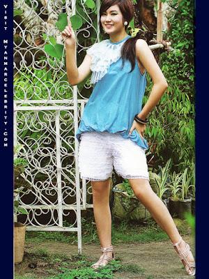 Myanmar pretty model awn seng s lovely outdoor fashion photos download