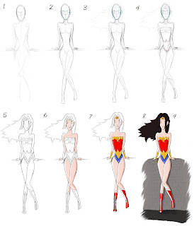 comment dessiner wonder woman