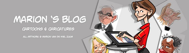 Caricatures, on paper and digital. Cartoons and visualizations. Caricatures for corporate events