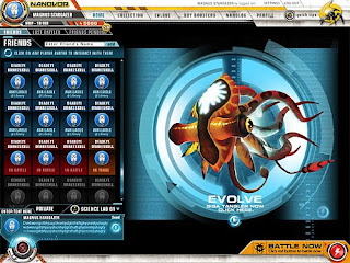 Nanovor is a futuristic game where players use tiny nanoscopic silicon monsters alled Nanovor that live inside computers to battle one another. Players start with several low tier nanovors, and must take part in battles to earn badges and new bots.