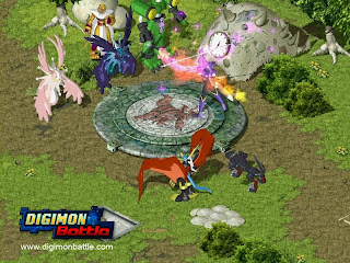 Join the battle to save Earth and the Digital World from the evil    Digimon! Based on the wildly popular cartoon series, Digimon Battle is    an online role-playing game where players take on the role of a  Digimon   Tamer, a special human who is able to nurture and train  creatures  called  Digimon to become great warriors.
