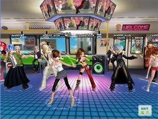 Acclaim's DANCE! Online is a game where you can enjoy fantastic dance to the beat! All you need is your PC and the keyboard's direction keys to go! You can also use a PC compatible dance pad if you prefer. It's all about dance and music. In DANCE! Online you will find variety of songs ranging from soft ballads to techno. DANCE! Online let's you complete or perform in a group. As you dance and improve, you level up and you can get into the official ranking. DANCE! online gives you an avatar and you can buy clothing and accessories to make it your very own. It's your virtual dance avatar. DANCE! Online is free and you just need to register by clicking on the 'register now' button, download the game and then click the play button.