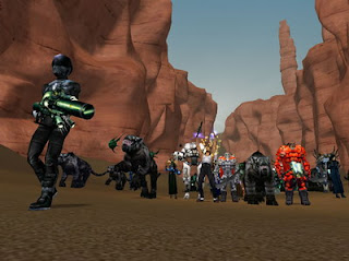 Anarchy Online is a 3D Sci-Fi MMORPG originally released in 2001 as a subscription based game. Currently players can create free accounts and explore the original game world though the most recent expansions are only available to paying subscribers. Thousands of players world-wide can compete and cooperate simultaneously in a rich, futuristic world. Anarchy Online has 4 races and 14 classes.
