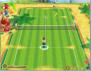  Fantasy Tennis is a 3D anime inspired Tennis MMO. Simple controls and plenty of game modes make Fantasy Tennis the PC equivalent of Mario Tennis. With bonus features including tournaments, house decoration, pets, emblems to collect, and a lengthly single player, there is plenty here to keep players entertained.