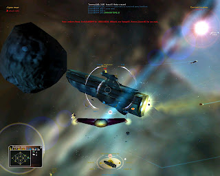 Allegiance is a team-oriented online multiplayer space combat simulation with real-time strategy (RTS) elements. Allegiance distinguishes itself by having a strategy interface that demands teamwork in order to accomplish anything. You pilot spacecraft, flying in a team with other players, defending and attacking sectors in space. Allegiance challenges your tactical ingenuity, your ability to function in a team and your prowess at blowing stuff up.