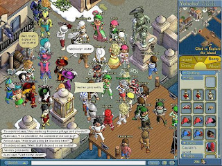 Puzzle Pirates is a free massively multiplayer online Browser based game. Jump into a quick, puzzle-packed adventure with up to three friends! Battle scallywags, find sunken treasure and get yer sea legs aboard a stalwart pirate ship... all from your web browser! Before you install Puzzle Pirates, take a Pirate Adventure and lead yer mates on bold pirate quests! Master the art of swordplay and sea-dog brawling on the high seas, explore uncharted islands and claim yer pirate booty! Yer adventure awaits!
