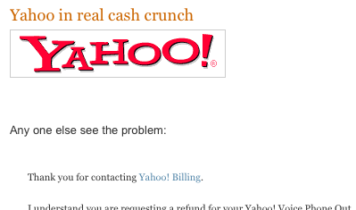 Yahoo Cash Crunch take 2