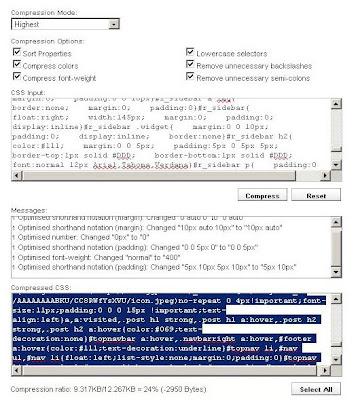 Compress CSS Compressor
