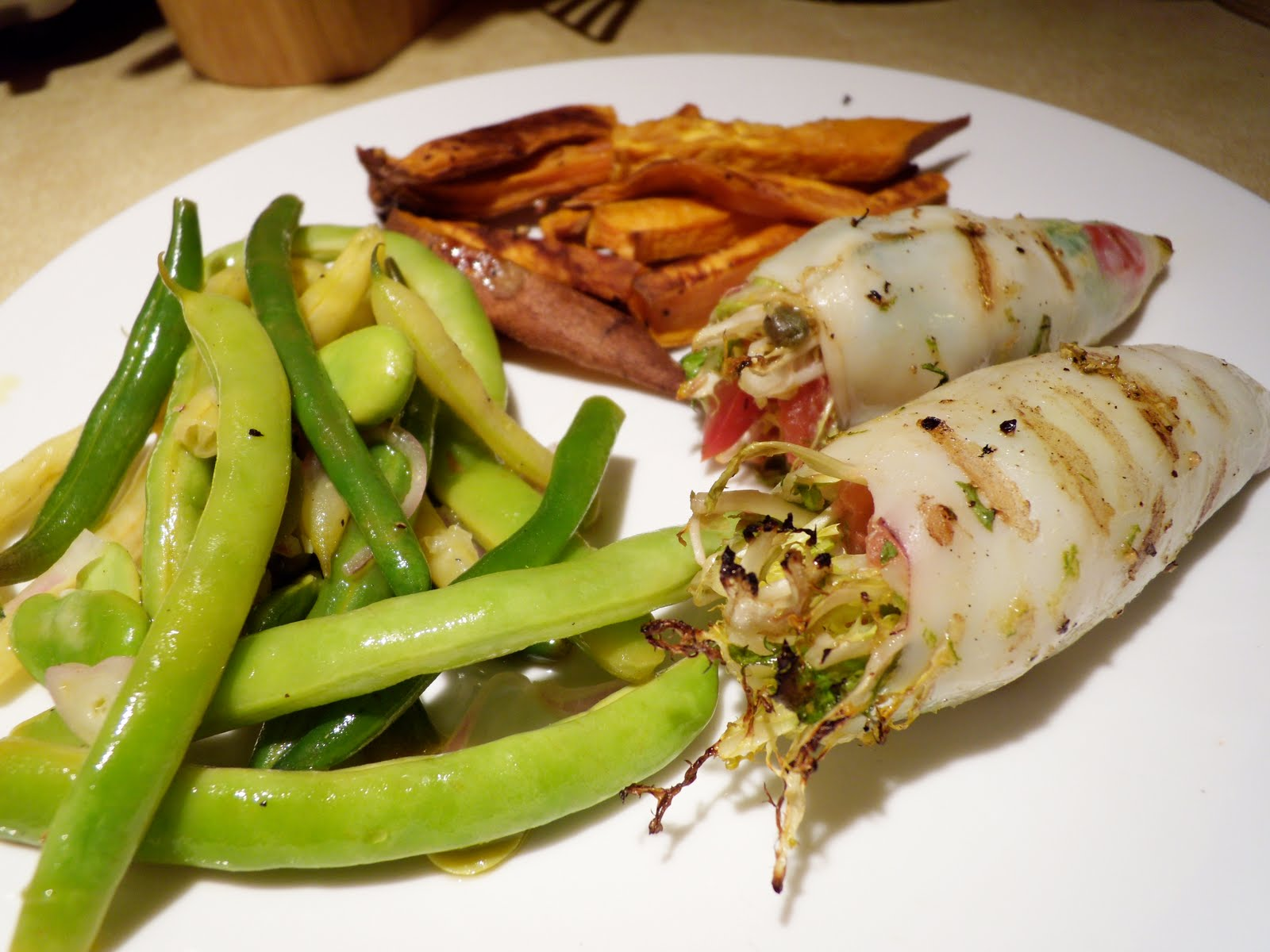 Stuffed Calamari On The Grill Recipe — Dishmaps