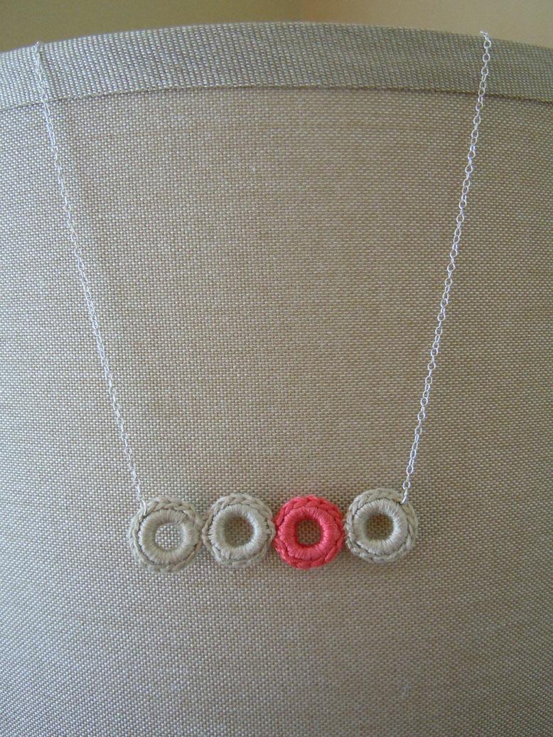 Crochet Jewelry Tutorial : Suzi of the Stars: Crochet Ring Necklace Tutorial