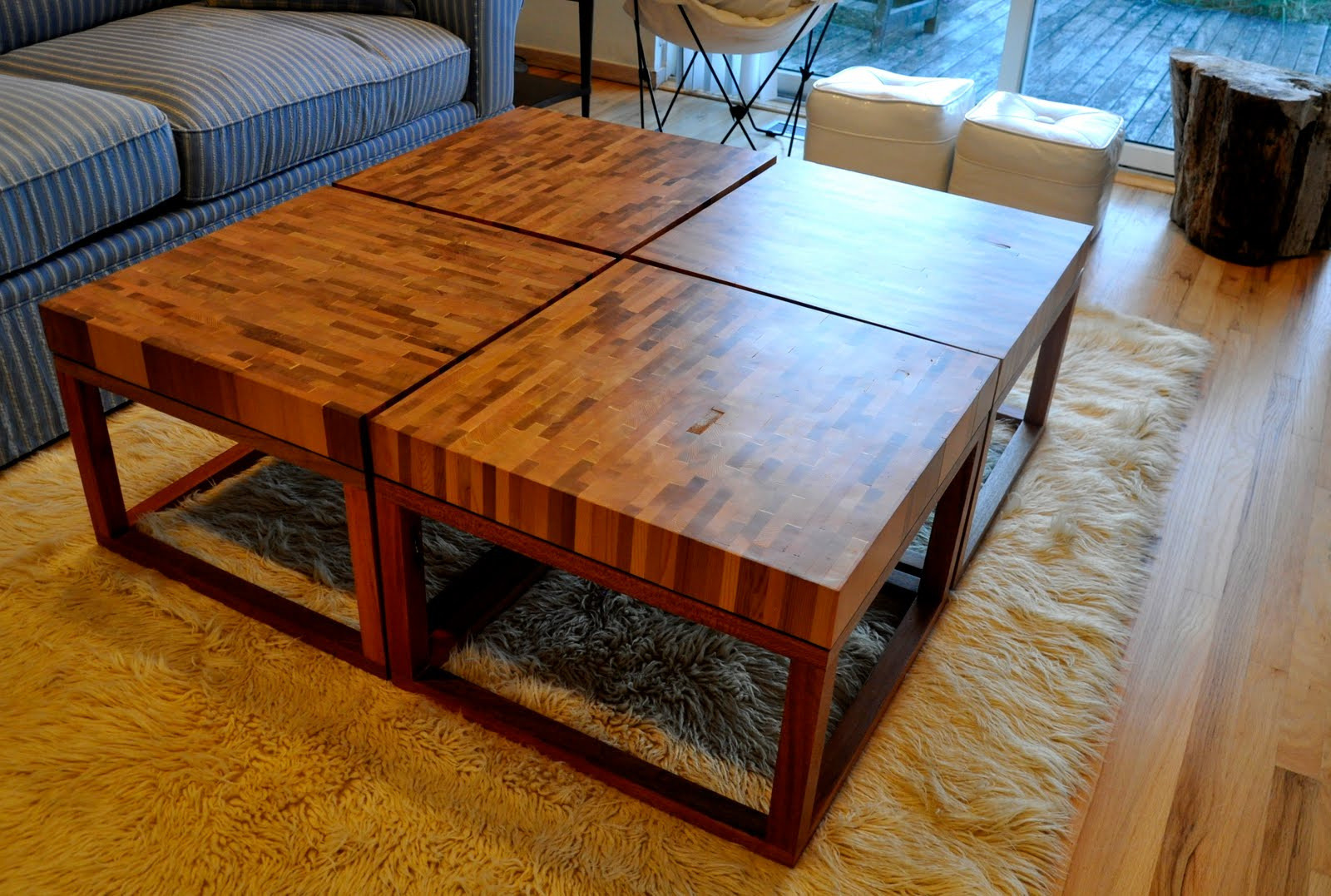 Hanselzedesign Cedar Coffee Tables With Satin Finish