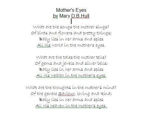 short poems for teachers. short mothers day poems from