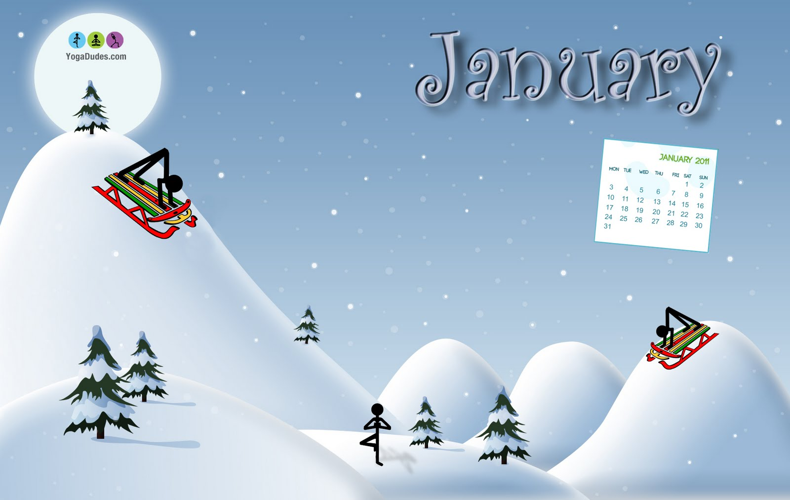 Free Calendar Wallpaper January : Yogadudes free january desktop calendar