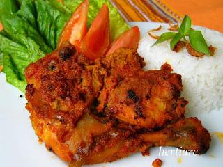 ayam panggang bumbu rujak masakan indonesia
