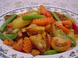 ayam rampai masakan indonesia