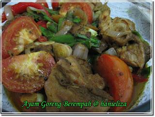 ayam goreng berempah masakan indonesia