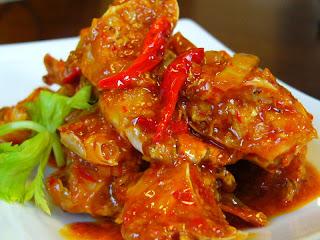 kepiting pedas asam manis masakan indonesia