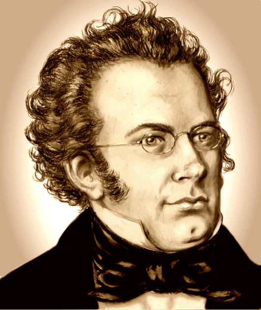 Retrato de Schubert / Portrait of Schubert