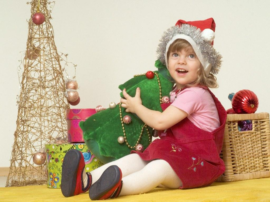 Christmas tree santa sled fox rabbit wallpaper border - shop for