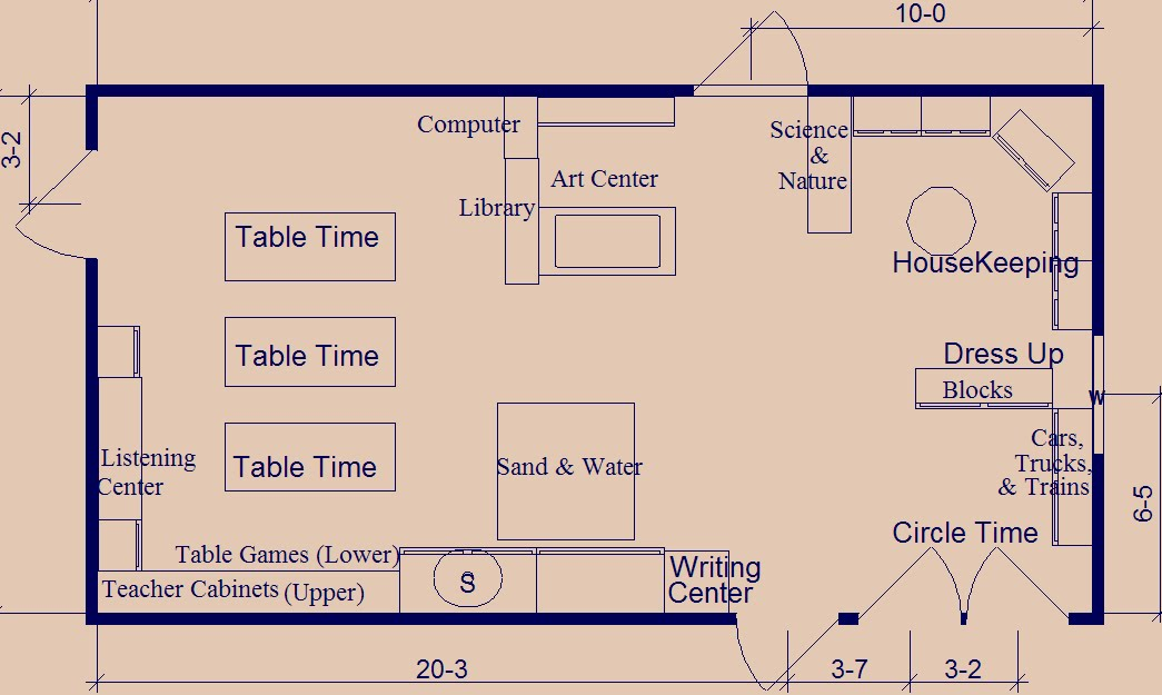 Preschool Teacher Once Again Classroom Layout