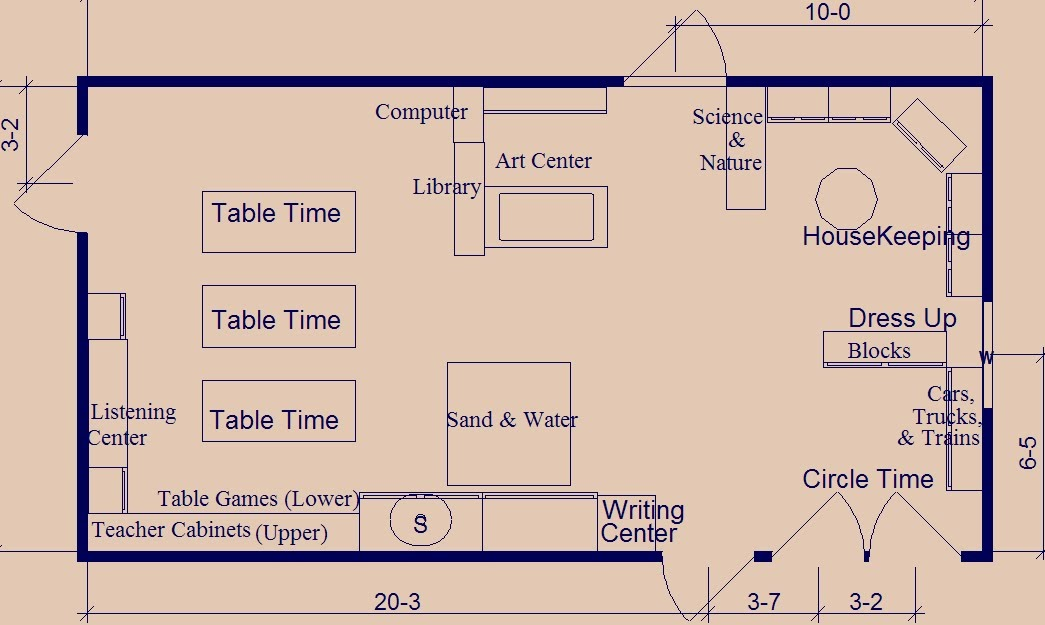 Classroom Design That Works Every Time ~ Preschool teacher once again classroom layout