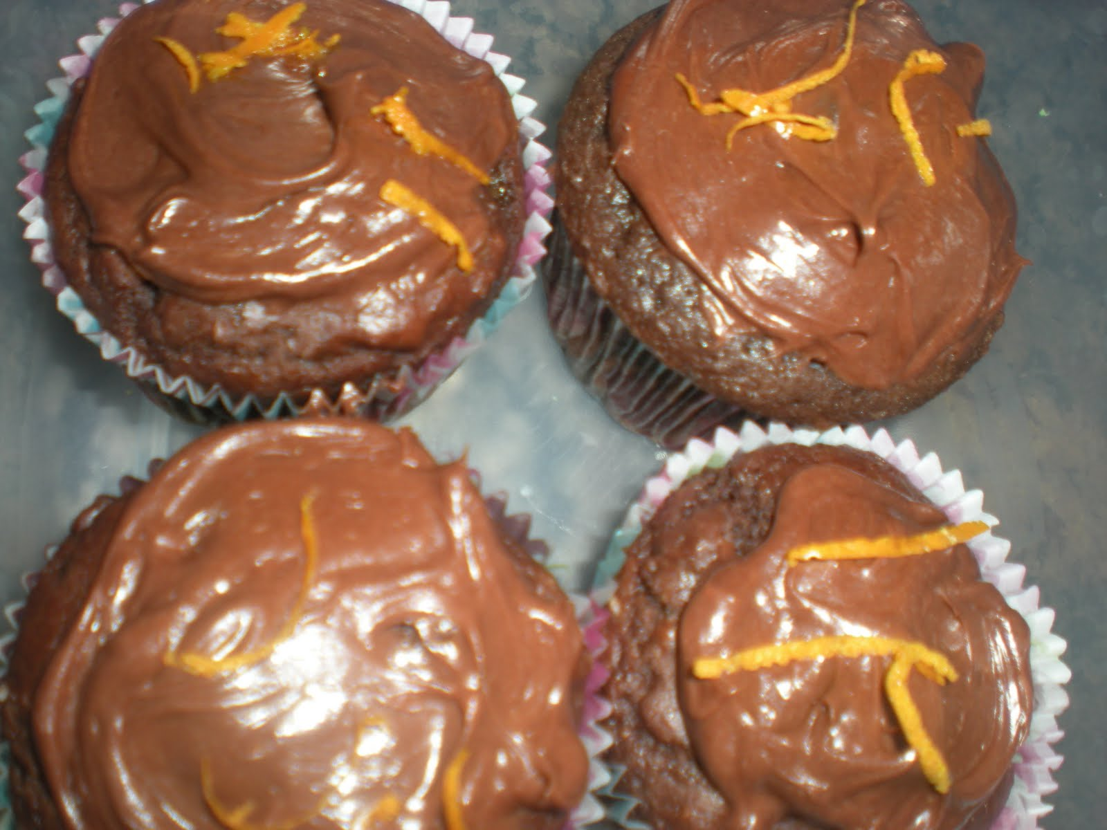 ... Kisses and Tasty Dishes: Day #51: Frosted Chocolate Orange Muffins