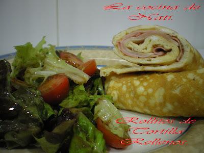 La cocina de nati rollitos de tortilla rellenos - Tortilla francesa calorias ...