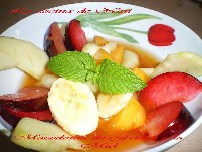 La cocina de nati macedonia de frutas a la miel - Macedonia de frutas thermomix ...