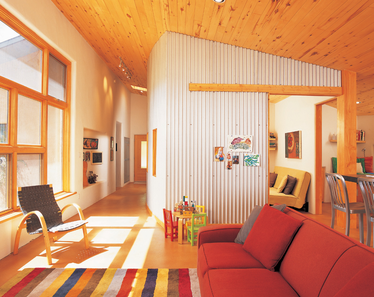 using corrugated metal for interior walls connecting the dots on decorating not so heavy metal