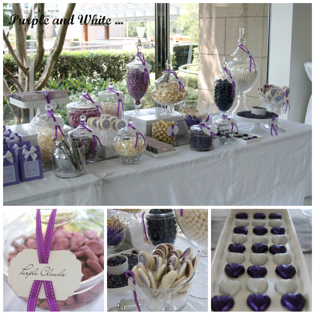 Purple Wedding Dessert Table: Purple And White Candy Table – A Magical Wedding