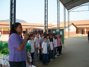 Eu e meus alunos em uma apresentação
